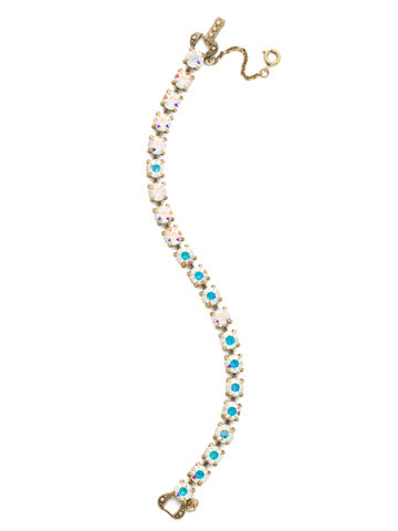 Repeating Round Crystal Line Bracelet - Sorrelli Essentials