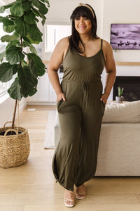 Cool Breeze Jumpsuit In Olive