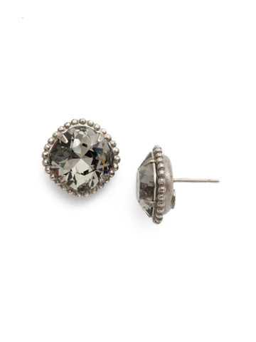 Solitaire Earring - Sorrelli Essentials in Antique Silver