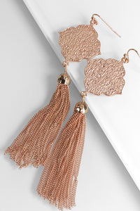 Flower and Tassel Earrings