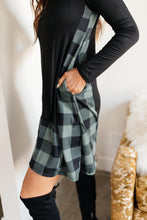 Hints Of Plaid Dress in Green