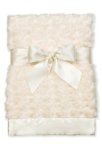 Swirly Snuggle Baby Blanket (Cream)