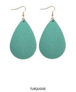 Teardrop Leather Earrings