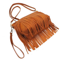 Fringe Clutch Cross Body Bag