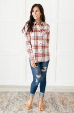 Pretty In Plaid Button-Up Top in Red