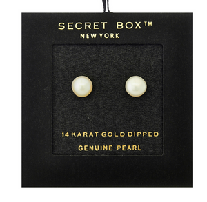 Secret Box Stud Pearls