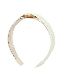 Down By The Shore Straw Headband