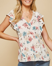 Carly Floral Babydoll Top