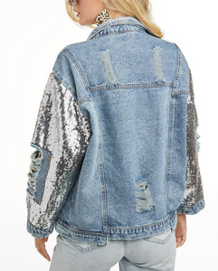 Straight Up Distressed Jacket