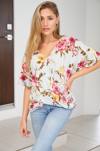 Blooming Floral Knit Top