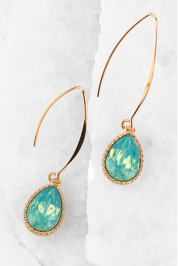 Sunrise Drop Earrings in Opal Mint