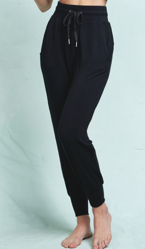 Cozy Casual Joggers in Black