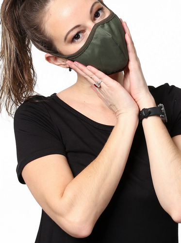 Keeping It Simple Face Mask in Olive Green