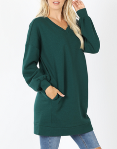 Varisty Oversized Sweatshirt in Deep Green