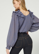Ella Rae Blouse in Slate