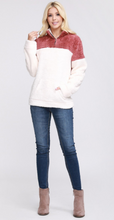 Lattes and Smores Sherpa Pullover in Rose Ivory
