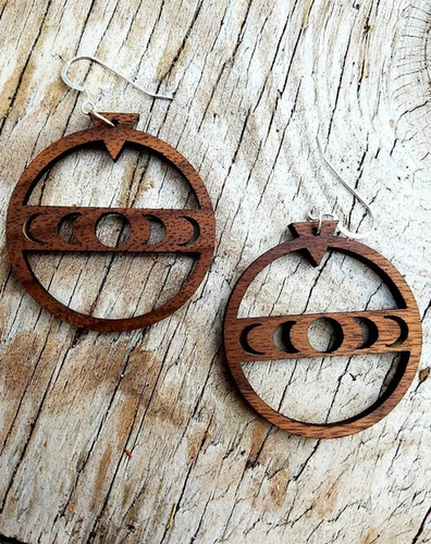 Moon Phases Hoop Earrings