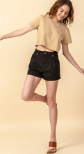 Madison Square Mid Waist Shorts in Black
