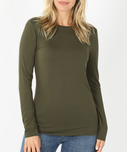 Keepin' It Casual Tee in Olive Green