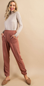 Sorrento High Waisted Pants in Copper