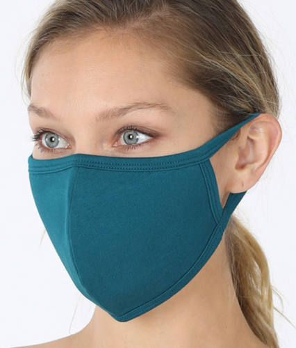 Keeping It Simple Face Mask in Teal