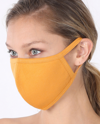 Keeping It Simple Face Mask in Mustard