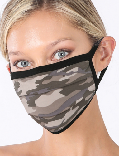 Keeping It Simple Face Mask in Dusty Camo