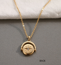 Round Overturn Pendant Necklace
