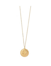 Round Rose Coin Pendant Necklace