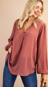 The Mulberry Dotted Blouse