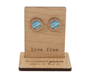 Abalone Wooden Studs