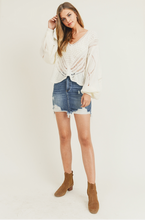 Olive Distressed Mini Skirt