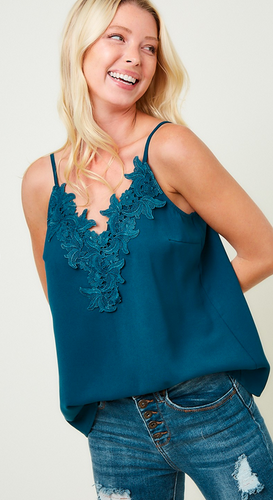The A West Camisole in Teal