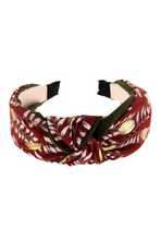Zara Double Knotted Headband in Red