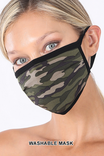 Keeping It Simple Face Mask in Forest Green