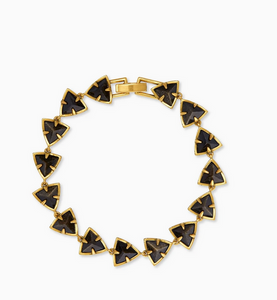 Perry Vintage Gold Link Bracelet in Golden Obsidian