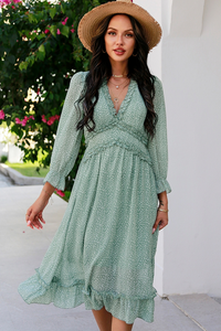 All You Ever Wanted Tiered Dress in Light Green