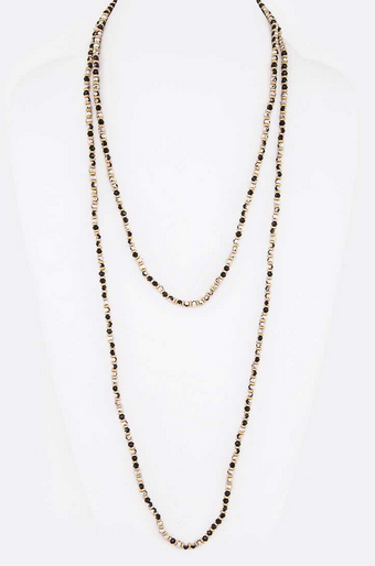 Petite Crystal Long Necklace