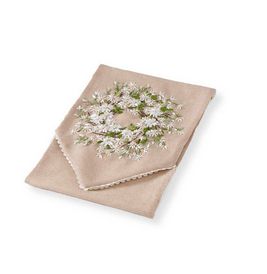 Floral Linen Table Runner