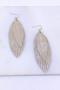 Fringed Feather Earrings