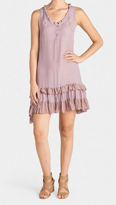 Callaia Chiffon Ruffle Bottom Dress