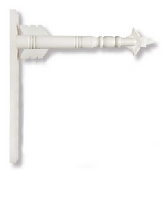 White Wood Arrow Holder