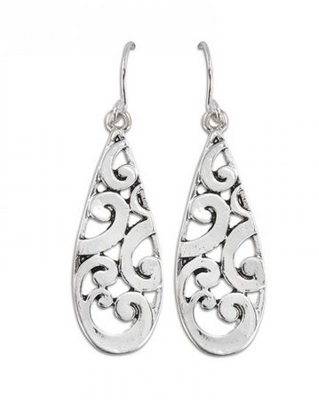 Filagree Teardrop Earrings