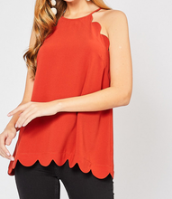 Avery Scalloped Top