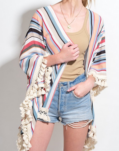 All The Colors Fringed Kimono