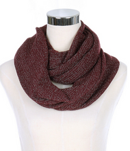 Glitter Accent Infinity Scarves