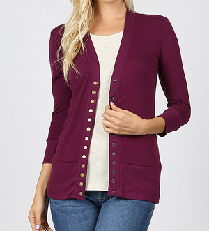 Chloe Snap Button Cardigan