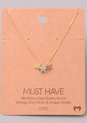 Three Stars Necklace.