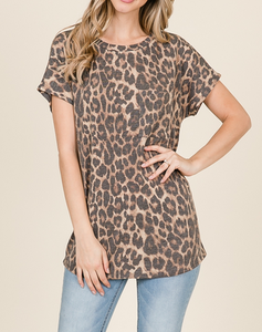 Addison Leopard Print Top