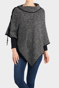 Chrissie Reversible Lace Up Poncho